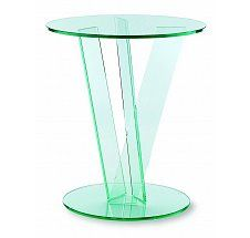 Vale Furnishers - Glass Circular Occasional Table